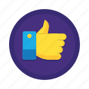 like, thumbs, thumbs up, up icon