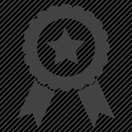 achievement, award, best, education, recognition, ribbon, school icon