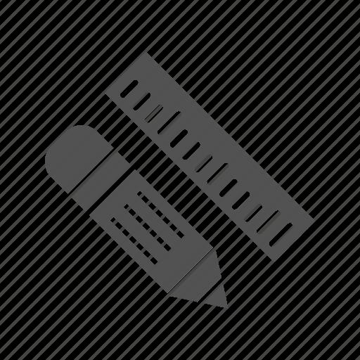 design, pencil, pencil and ruler, ruler icon