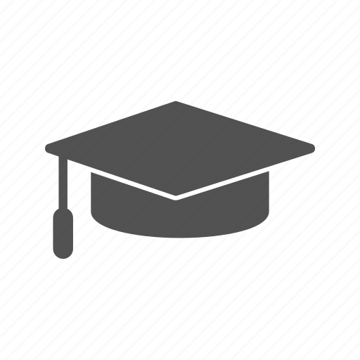 degree, diploma, graduation cap icon