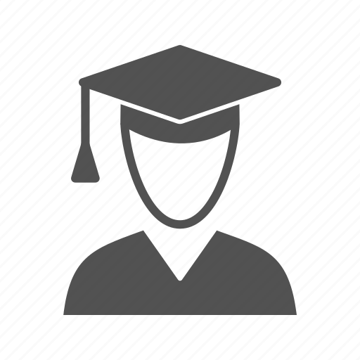 avatar, graduate, male, student icon