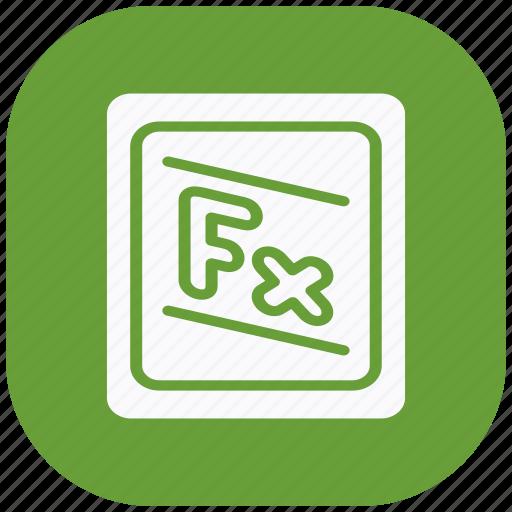 accounting, digital, education, formula, learning, math, mathematics icon