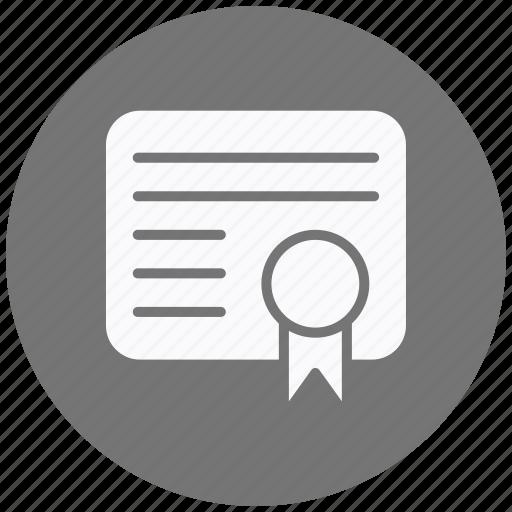 achievement, certificate, certification, degree, diploma, star, success icon