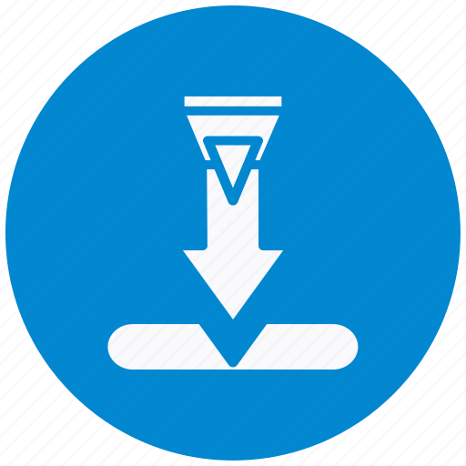 arrow, database, direction, down, download, guardar, save, storage icon