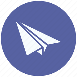 airplane, delivery, paper, paper plane, plane, transport, travel icon