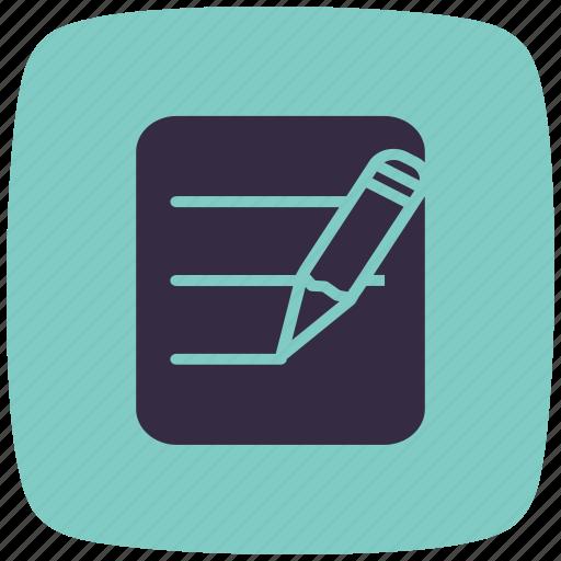 creative, design, draw, edit, text, write, writing icon