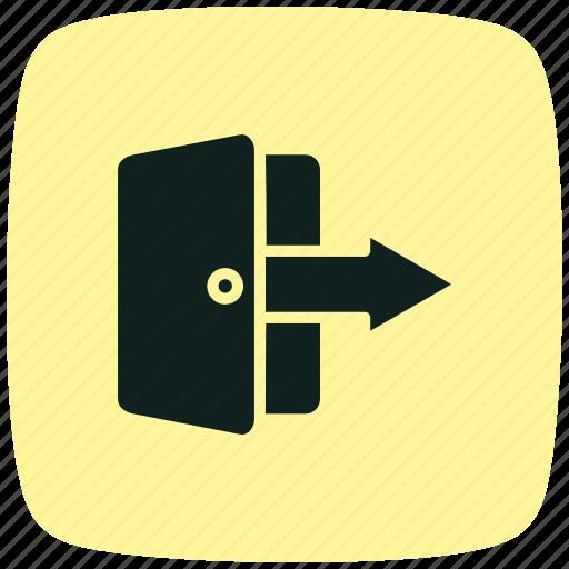 arrow, arrows, direction, logout, move, next, sign icon