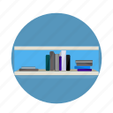 books, learn, learning, library, school, study, university icon