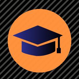 education, finals, graduation, hat, school, student, university icon