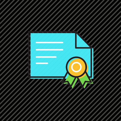award, certificate, degree icon