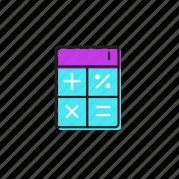calculator, student calculator icon