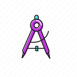 compass, geometry icon