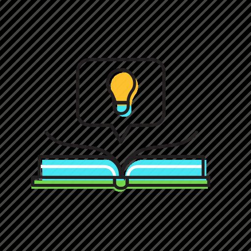 book, idea, idea book, knowledge icon