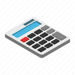 addition, artwork, calculator, drawing, isometric, mathematics, multiply icon