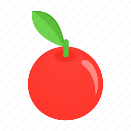 apple, delicious, isometric, natural, organic, ripe, vegetarian icon