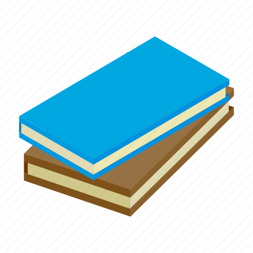 books, dictionary, hardcover, isometric, literature, study, trend icon