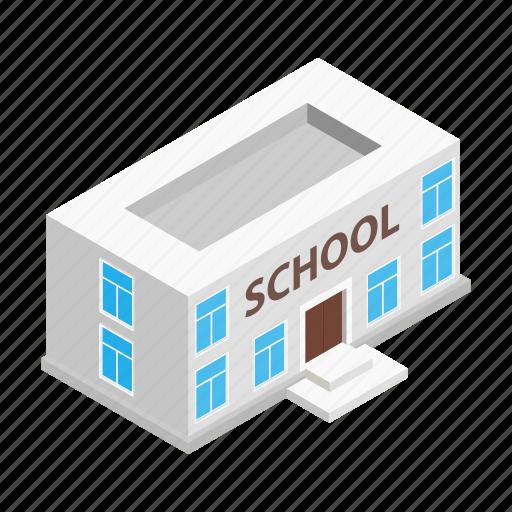 architecture, building, education, house, isometric, school, university icon