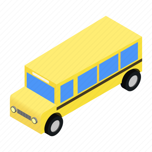 Bus, isometric, school, transport, transportation, travel, vehicle icon - Download on Iconfinder