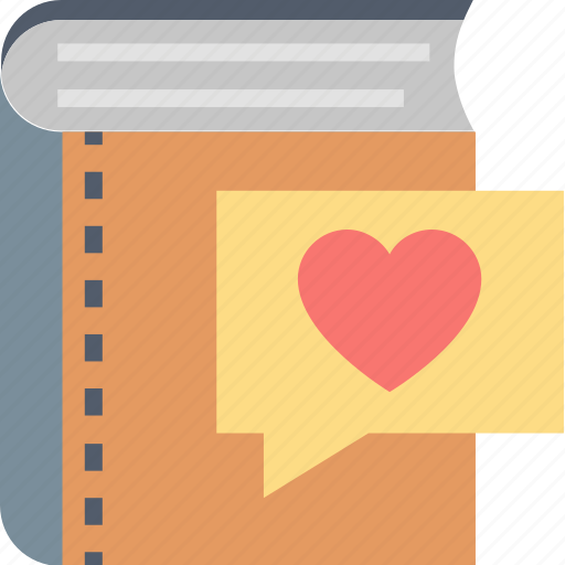 book, education, favorite, heart, learning, lessons, study icon