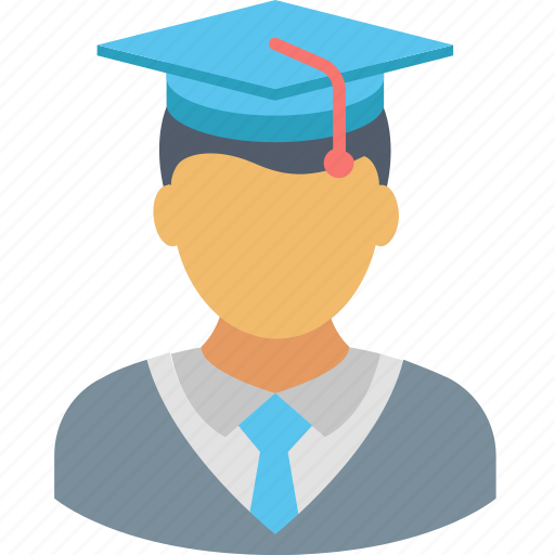 degree, diploma, graduation, hat, man, student, university icon