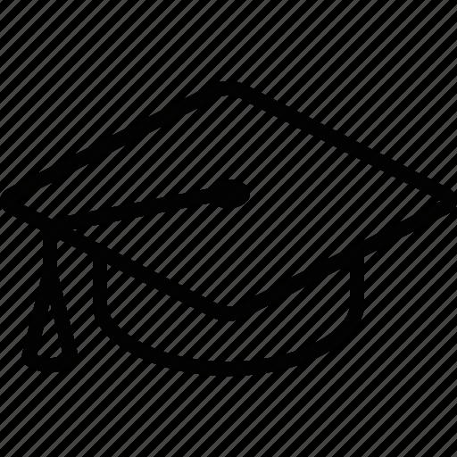 academia, cap, commencement, education, graduate, graduation, school icon