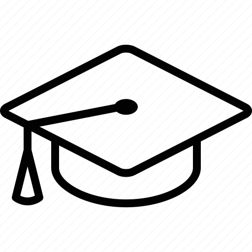 academia, cap, education, graduate, graduation, learning, school icon