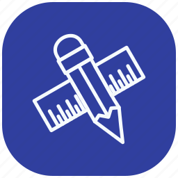 drawing, edit, graphic, pencil, pencil ruler, ruler, writing icon