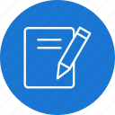 document, notes, office, paper, sheet icon