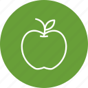 apple, education, fruit icon