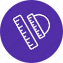 geometry, geometry set, ruler, scale icon