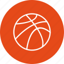 ball, basketball, game icon