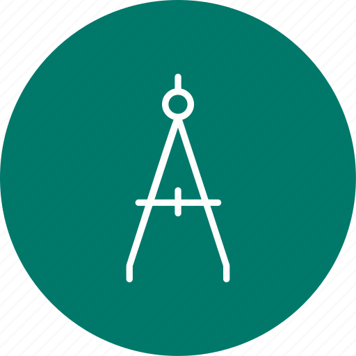 compass, direction, stationery icon