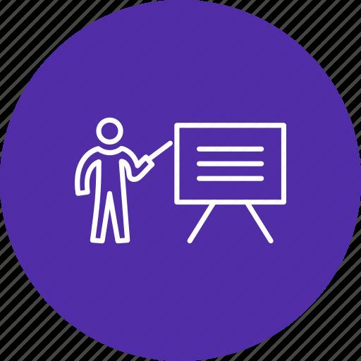 presentation, teaching, white board icon