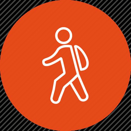 school, student, walking to school icon