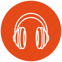 headphone, headphones, microphone, multimedia, speaker, voice icon