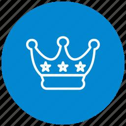 achievement, award, king, medal, royalty, winner, winter icon
