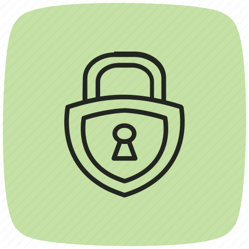 locked, padlock, protect, protection, safe, security, shield icon