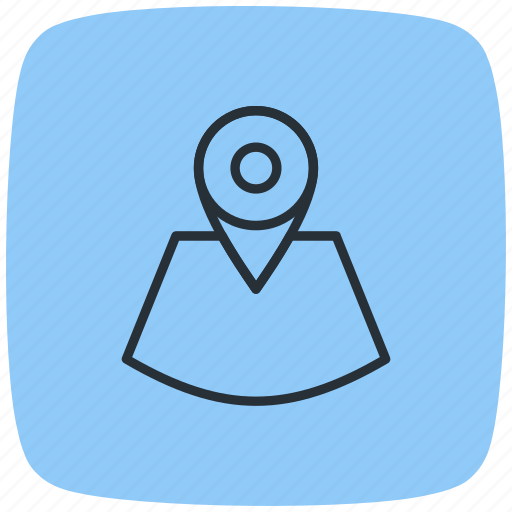 address, direction, location, locator, map, placeholder, pointer icon