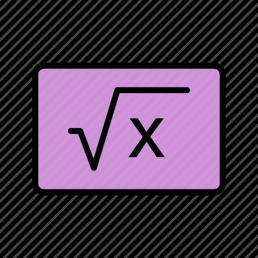 education, formula, learning icon