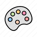 color pallete, paint, painting icon