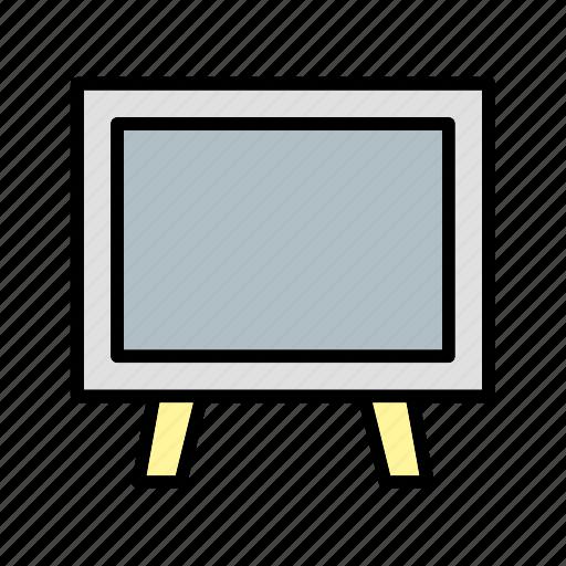 black board, chalk board, class room, presentation icon