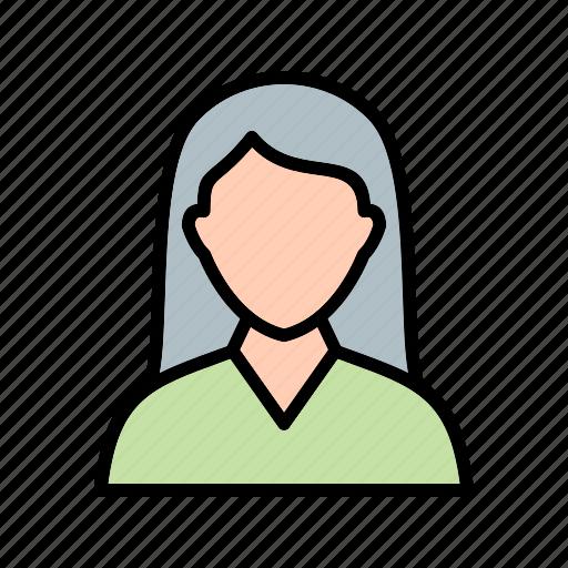 avatar, female student, student, user icon