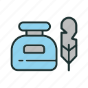 ink, pen, tool, writing icon