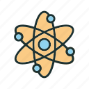 atom, research, science, space icon