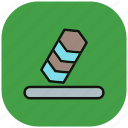erase, eraser, recycle, refresh, remove, rubber, trash icon