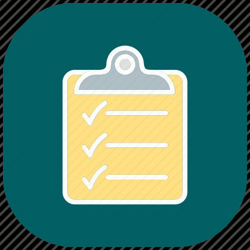 checklist, clipboard, list, paper, sheet, text, write icon
