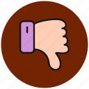 bad, dislike, emoji, emoticon, emoticons, expression, sad icon