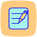 creative, design, draw, edit, text, write, writing icon