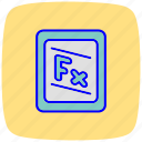 accounting, digital, education, formula, learning, math, mathematics icon