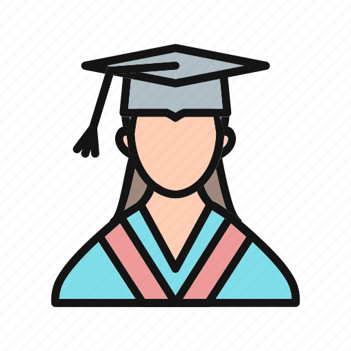 female, female student, girl, person, student, woman icon